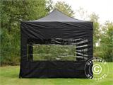 Pop up gazebo FleXtents PRO 3x3 m Black, incl. 4 sidewalls - 3