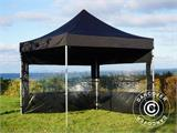 Pop up gazebo FleXtents PRO 3x3 m Black, incl. 4 sidewalls - 7