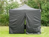 Pop up gazebo FleXtents PRO 3x3 m Black, incl. 4 sidewalls - 9