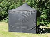 Pop up gazebo FleXtents PRO 3x3 m Black, incl. 4 sidewalls - 11