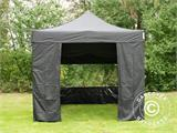 Pop up gazebo FleXtents PRO 3x3 m Black, incl. 4 sidewalls - 13