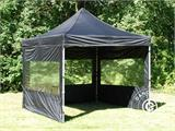 Pop up gazebo FleXtents PRO 3x3 m Black, incl. 4 sidewalls - 16