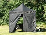 Pop up gazebo FleXtents PRO 3x3 m Black, incl. 4 sidewalls - 17