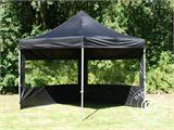 Pop up gazebo FleXtents PRO 3x3 m Black, incl. 4 sidewalls - 18