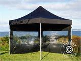 Pop up gazebo FleXtents PRO 3x3 m Black, incl. 4 sidewalls - 21
