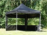Pop up gazebo FleXtents PRO 3x3 m Black, incl. 4 sidewalls - 23