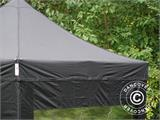 Pop up gazebo FleXtents PRO 3x3 m Black, incl. 4 sidewalls - 24
