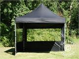 Pop up gazebo FleXtents PRO 3x3 m Black, incl. 4 sidewalls - 25