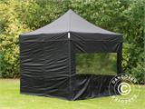 Pop up gazebo FleXtents PRO 3x3 m Black, incl. 4 sidewalls - 26