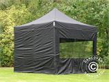 Pop up gazebo FleXtents PRO 3x3 m Black, incl. 4 sidewalls - 27