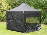 Pop up gazebo FleXtents PRO 3x3 m Black, incl. 4 sidewalls - 28