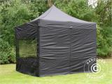 Pop up gazebo FleXtents PRO 3x3 m Black, incl. 4 sidewalls - 29