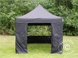 Pop up gazebo FleXtents PRO 3x3 m Black, incl. 4 sidewalls - 30