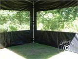 Pop up gazebo FleXtents PRO 3x3 m Black, incl. 4 sidewalls - 33