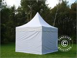 Vouwtent/Easy up tent FleXtents PRO Peak Pagoda 3x3m Wit, Incl. 4 zijwanden - 1