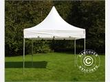 Vouwtent/Easy up tent FleXtents PRO Peak Pagoda 3x3m Wit, Incl. 4 zijwanden - 6