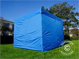 Tenda Dobrável FleXtents PRO 3x3m Azul, incl. 4 paredes laterais - 1