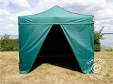 Pop up gazebo FleXtents Xtreme 50 3x3 m Green, incl. 4 sidewalls - 2