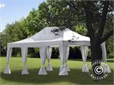 Pop up gazebo FleXtents PRO 4x6 m White, incl. 8 decorative curtains - 1