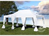 Pop up gazebo FleXtents PRO 4x6 m White, incl. 8 decorative curtains - 3
