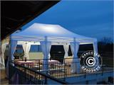 Pop up gazebo FleXtents PRO 4x6 m White, incl. 8 decorative curtains - 5