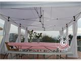 Pop up gazebo FleXtents PRO 4x6 m White, incl. 8 decorative curtains - 6