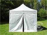 Pop up gazebo FleXtents PRO 3x3 m Silver, incl. 4 sidewalls - 3