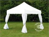"Carpa plegable FleXtents Xtreme ""Wave"" 3x3m Blanco, incl. 4 cortinas decorativas - 1"