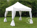 "Carpa plegable FleXtents Xtreme ""Wave"" 3x3m Blanco, incl. 4 cortinas decorativas - 2"
