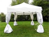 "Carpa plegable FleXtents Xtreme ""Wave"" 3x3m Blanco, incl. 4 cortinas decorativas - 3"