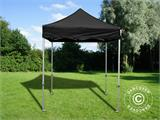 Pop up gazebo FleXtents PRO 2x2 m Black, incl. 4 sidewalls - 8