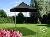 Pop up gazebo FleXtents PRO 2x2 m Black, incl. 4 sidewalls - 9