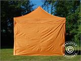 Vouwtent/Easy up tent FleXtents PRO 3x3m Oranje, inkl. 4 Zijwanden - 1