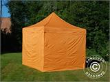 Vouwtent/Easy up tent FleXtents PRO 3x3m Oranje, inkl. 4 Zijwanden - 3