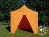 Vouwtent/Easy up tent FleXtents PRO 3x3m Oranje, inkl. 4 Zijwanden - 6