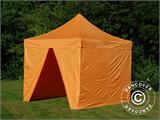 Vouwtent/Easy up tent FleXtents PRO 3x3m Oranje, inkl. 4 Zijwanden - 8