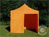 Vouwtent/Easy up tent FleXtents PRO 3x3m Oranje, inkl. 4 Zijwanden - 10