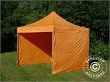 Vouwtent/Easy up tent FleXtents PRO 3x3m Oranje, inkl. 4 Zijwanden - 13