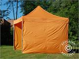 Vouwtent/Easy up tent FleXtents PRO 3x3m Oranje, inkl. 4 Zijwanden - 14