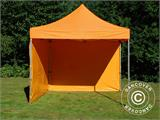 Vouwtent/Easy up tent FleXtents PRO 3x3m Oranje, inkl. 4 Zijwanden - 16
