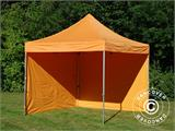 Vouwtent/Easy up tent FleXtents PRO 3x3m Oranje, inkl. 4 Zijwanden - 17