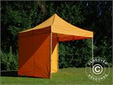 Vouwtent/Easy up tent FleXtents PRO 3x3m Oranje, inkl. 4 Zijwanden - 18