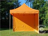 Vouwtent/Easy up tent FleXtents PRO 3x3m Oranje, inkl. 4 Zijwanden - 19