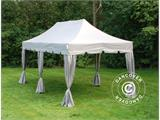 "Carpa plegable FleXtents PRO ""Peaked"" 3x6m Latte, incl. 6 cortinas decorativas - 1"