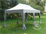 "Carpa plegable FleXtents PRO ""Peaked"" 3x6m Latte, incl. 6 cortinas decorativas - 2"