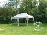 "Carpa plegable FleXtents PRO ""Peaked"" 3x6m Latte, incl. 6 cortinas decorativas - 3"