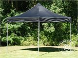 Vouwtent/Easy up tent FleXtents PRO 3x3m Zwart, incl. 4 decoratieve gordijnen - 2