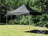 Vouwtent/Easy up tent FleXtents PRO 3x3m Zwart, incl. 4 decoratieve gordijnen - 3