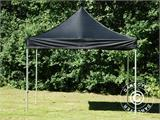 Vouwtent/Easy up tent FleXtents PRO 3x3m Zwart, incl. 4 decoratieve gordijnen - 4