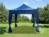 Carpa plegable FleXtents PRO 3x3m Azul, Incl. 4 cortinas decorativas - 1